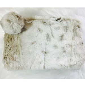 Handbags - NEW WITH TAGS SNOW LEOPARD FAUX FUR SMALL BAG